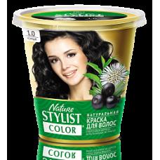 Краска для волос Nature Stylist Color тон 1.0 черный