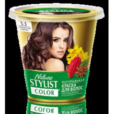 Краска для волос Nature Stylist Color тон 5.3 золотистый каштан