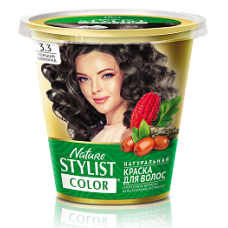 Краска для волос Nature Stylist Color тон 3.3 горький шоколад