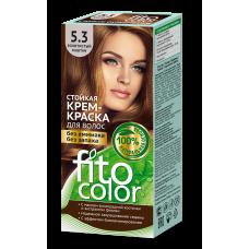FitoColor 5.3 Золотистый каштан Стойкая крем-краска для волос цвет