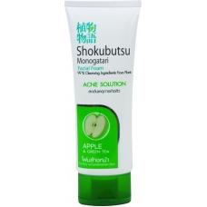 LION Shokubutsu Пенка для умывания, для жирной кожи с ароматом яблока 100 мл.