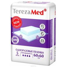 TerezaMed Пеленки одноразовые впитывающие Normal 60 x 60 см 5 шт