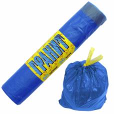 Мешки для мусора ГРАНИТ с затягивающейся тесьмой 60л. 20шт. в рулоне