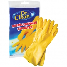 Перчатки резиновые Dr. Clean хозяйственные S