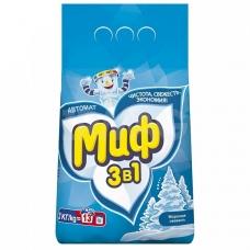 Стиральный порошок Миф автомат морозная свежесть 2 кг.