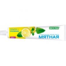 Зубная паста «Мятная»  Лимон+отбеливание 100мл.