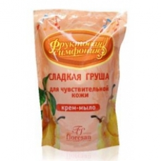 Крем-мыло «Сладкая груша» для чувствительной кожи (сменный блок) 400мл.