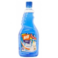 Средство для мытья стекол «Help» Свежий озон (Сменный блок) 750 мл.