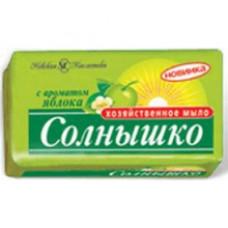 Мыло хозяйственное «Солнышко» Яблоко 140г.в этикетке