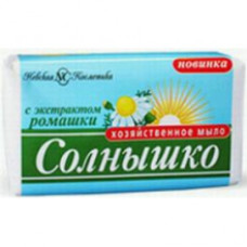 Мыло хозяйственное «Солнышко» Ромашка 140г.в этикетке