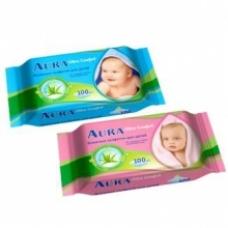 АУРА UC Влажные салфетки детский Алоэ+Витамин Е 100шт.