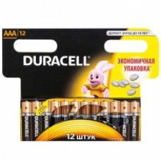 DURACELL Батарейка Basic AAA 1,5V LR03 12 шт.