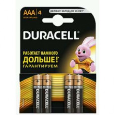 DURACELL Батарейка Basic AAA 1,5V LR03 4 шт.
