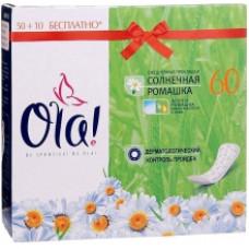 Ежедневные прокладки OLA! Daily Deo  Ромашка 60шт.