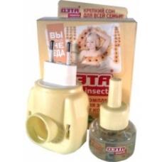 ДЭТА INSECTO комплект от комаров (фумигатор + жидкость 45 ночей)