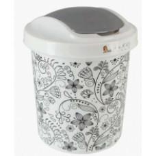 Контейнер для мусора круглый Ориджинал 12 л декор кружева