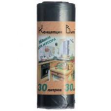 Мешки для мусора СТАНДАРТ 30л. 30шт. в рулоне ПНД