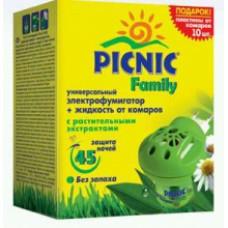 ПИКНИК Family фумигатор + жидкость от комаров с растительными экстрактами