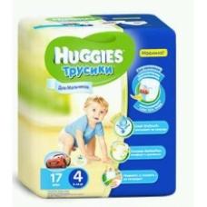 Подгузники HUGGIES Трусики-подгузники для мальчиков 9-15кг. 17шт