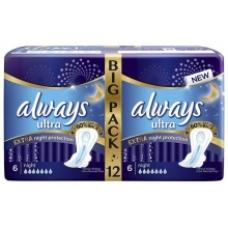 Прокладки Always Ultra Экстра защита Night Deo 12 шт.