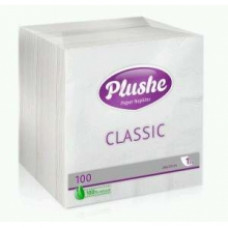 Салфетки Plushe Classic Белые 24*24 100 шт.
