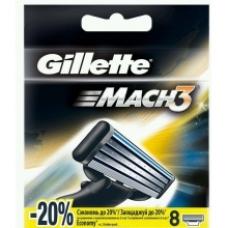 Сменные кассеты для бритья Gillette Mach 3, 8 шт.
