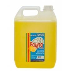 Средство для мытья посуды Радуга Лимон 5л.