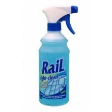 Средство для мытья стеклянных, зеркальных и пластиковых поверхностей RAIL 500мл.