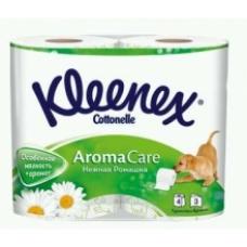 Туалетная бумага Kleenex Aromа Care трехслойная 4 рулона