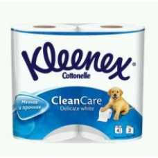 Туалетная бумага Kleenex Clean Care Delicate white 4 рул. 2 сл.