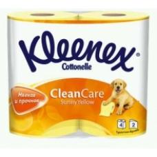 Туалетная бумага Kleenex Clean Care двухслойная 4 рулона