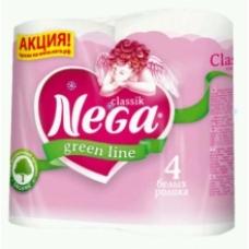 Туалетная бумага Nega Green line Classik Белая 2 сл. 4 шт.