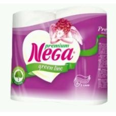 Туалетная бумага Nega Green line Premium Белая 3 сл. 4 шт.
