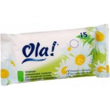 Влажные салфетки Ola! очищающий для интимной гигиены Солнечная ромашка 15шт