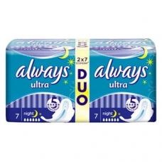 Прокладки Always Ultra Night Duo 14 шт.