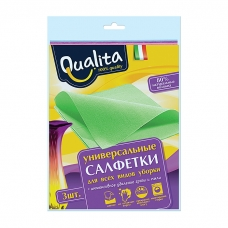 Qualita Салфетки вискозные 30*38 3 шт.