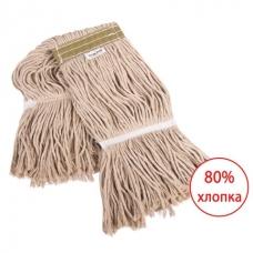 ЛАЙМА Насадка МОП для швабры, веревочная, прошитая, ворс 38 см, 400 г