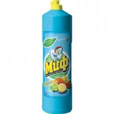 Средство для мытья посуды Миф лимонная свежесть 1000 мл.