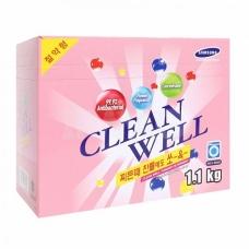 Clean Well  Стиральный порошок универсальный концентрированный с кондиционером и ароматом цветов 1,1 кг.