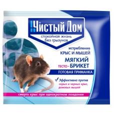 Чистый дом брикет от крыс тесто 100 г