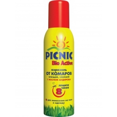 ПИКНИК Bio Active Аэрозоль от комаров и клещей 125мл.