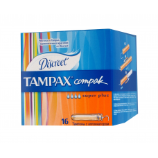 Тампоны женские гигиенические с аппликатором Tampax Compak Super Plus 16 шт.