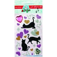 Липуня Зефирные наклейки Кошки с сердцами