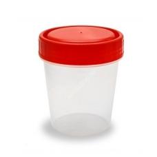 Контейнер стерильный для сбора биологических материалов с лопаткой 60 мл.