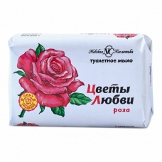 Мыло туалетное «Цветы любви» Роза 90г.
