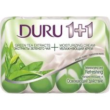 Мыло туалетное DURU 1+1 Зеленый Чай 4*90г.