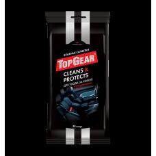 Top Gear влажные салфетки для ухода за кожей в салоне автомобиля 25 шт.