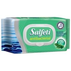 Влажные салфетки Salfeti антибактериальные 120 шт.