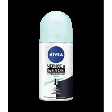 NIVEA Дезодорант-шариковый Невидимая защита черного и белого fresh 50мл