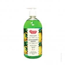РУССКОЕ ПОЛЕ Домашнее мыло универсальное лимонно-мятное 1000 мл.